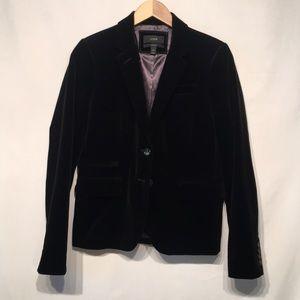 J. Crew Black Velvet Schoolboy Blazer Size 6T
